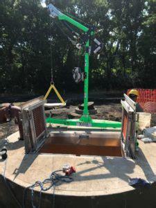 davit arm solves jobsite safety  national trench safety