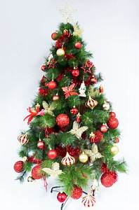 Red & Gold Christmas tree design ideas