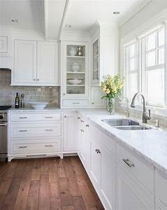 white hamptons style kitchens coastal style bloglovin With kitchen cabinets lowes with coastal wall art on wood
