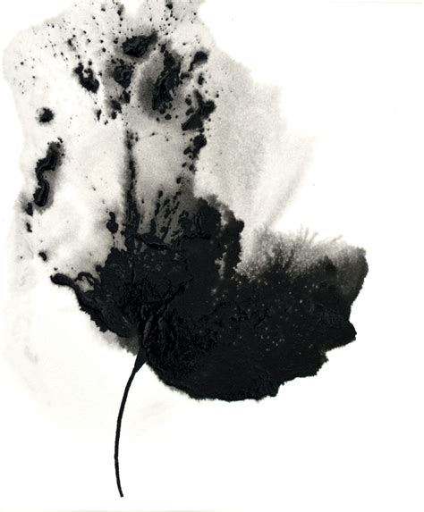 Abstract Flowers Black And White by Painting Flower Abstract Floral Black White
