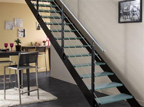 cuisine pas cher en ligne escalier droit et moderne en métal photo 9 10 style