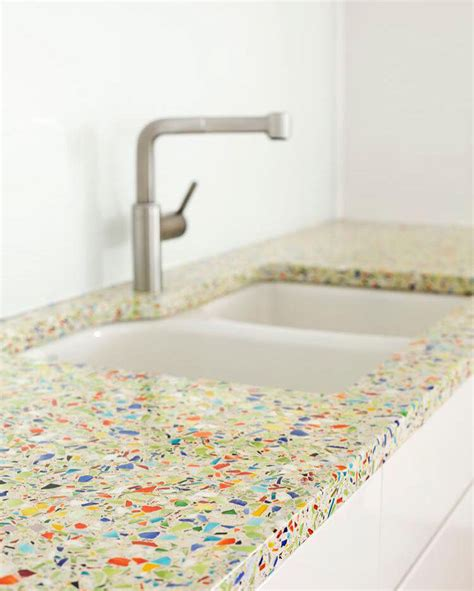 Recycled Glass Bathroom Countertops by Kitchen Design Idea 5 Unconventional Materials You Can