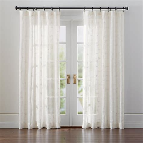 Briza Sheer Cream Linen Curtains | Crate and Barrel