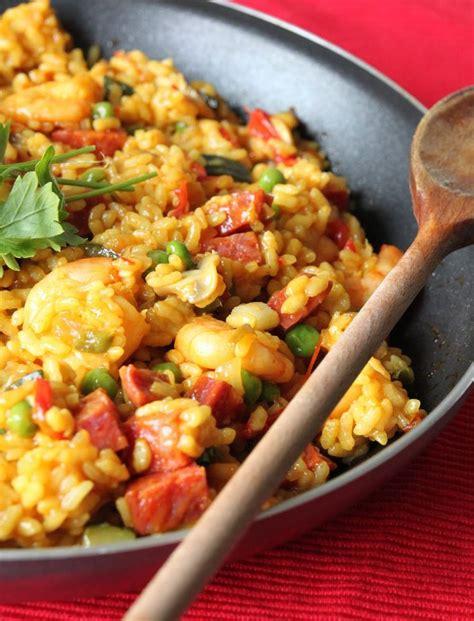 cuisine paella paella food