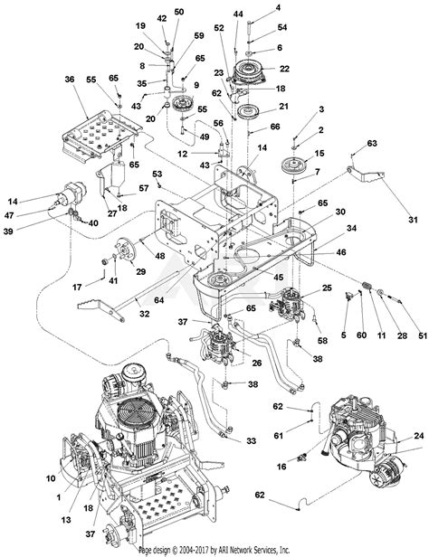 gravely 994104 000501 1934fx 19hp kawasaki 34 quot deck parts diagram for engine hydraulic