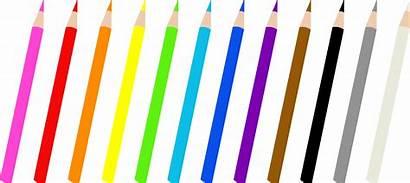 Clipart Pencil Colored Clip Cartoon Colors Drawing