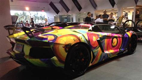 lamborghini aventador art car features  color