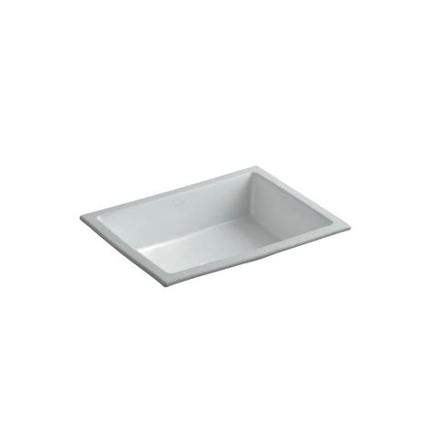 kohler verticyl sink drain thermocast calio undermount bathroom sink in gray