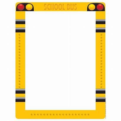 Border Bus Borders Clipart Paper Theme Boarder