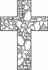 Cross Coloring Pages Getdrawings sketch template