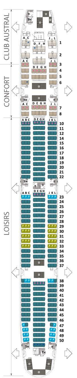plan siege air boeing 777 300 er air austral plan cabine visite en
