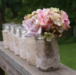 shabby chic wedding table centerpieces set of 6 vintage jars centerpieces vases by mudpiesandmarigolds