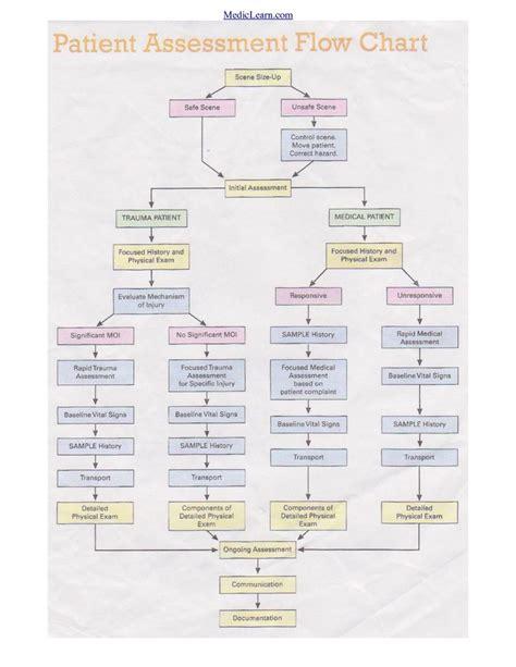 assessment flow chart emt stuff emergency medical