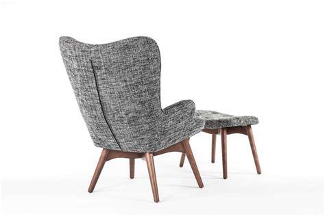stilnovo teddy black accent chair with ottoman