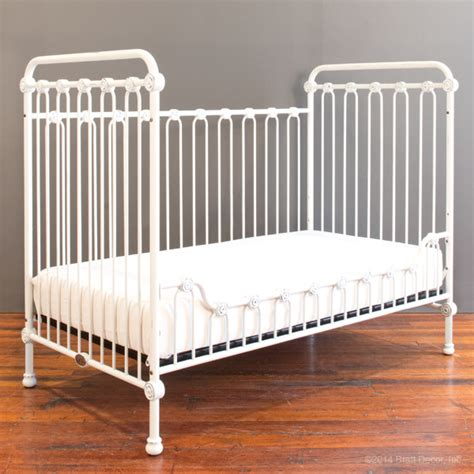 joy baby crib distressed white