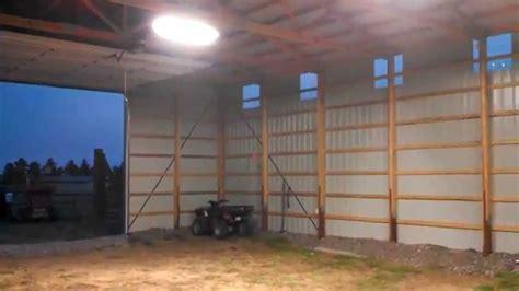 Pole Barn Interior Lighting