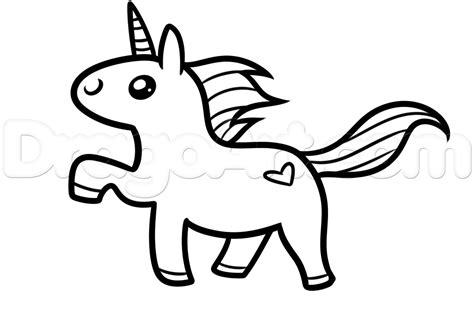 draw  kawaii unicorn step    draw