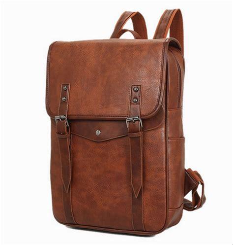 jual tas ransel kulit laptop bag pria wanita korea style backpack di lapak