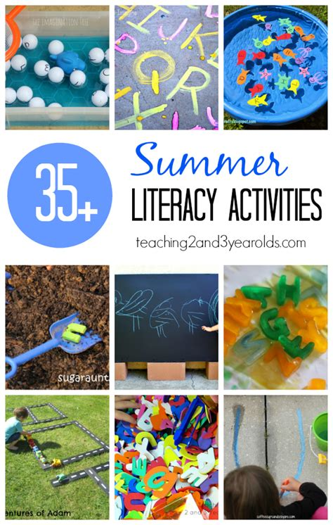 summer preschool ideas preschool literacy activities for summer 498