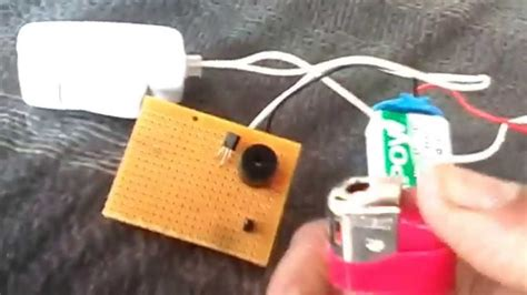 Simple Fire Alarm Using Photo Diode Btd Scr Buzzer