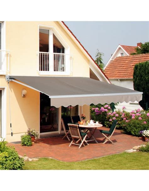 Tenda Da Sole Impermeabile by Outsunny Tenda Da Sole A Braccio Avvolgibile Impermeabile