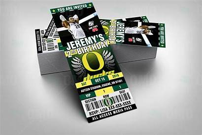 Oregon Ducks Basketball Ticket Invites Sports Party
