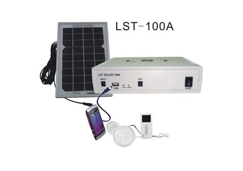 china led solar indoor lighting system with rechargeable