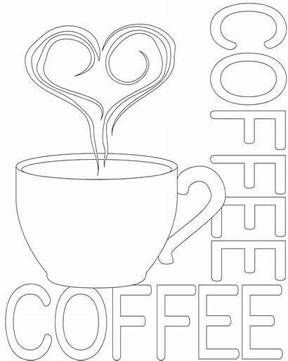 Coffee Coloring Pages Printable Cup Box Pot