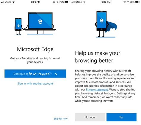 on with microsoft edge for ios and android tech
