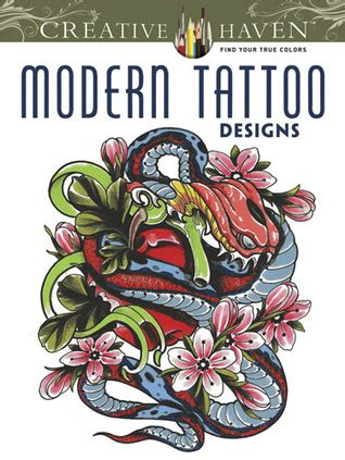 creative haven modern tattoo designs coloring book  erik