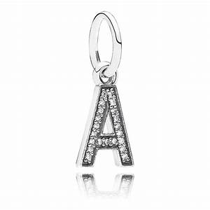 pandora letter a pendant charm 791313cz from gift and wrap uk With pandora letter charms a