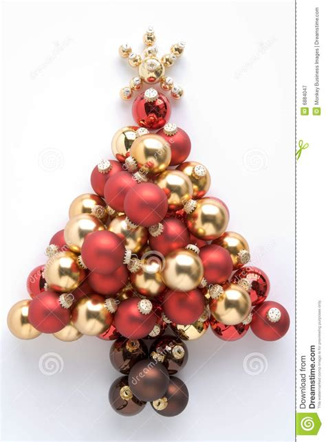 christmas tree made from baubles royalty free stock