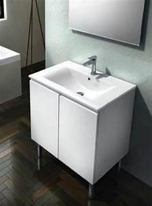 plomberie meuble bas dublino 70 cm ref b2r200250 With porte d entrée alu avec meuble vasque salle de bain longueur 50 cm