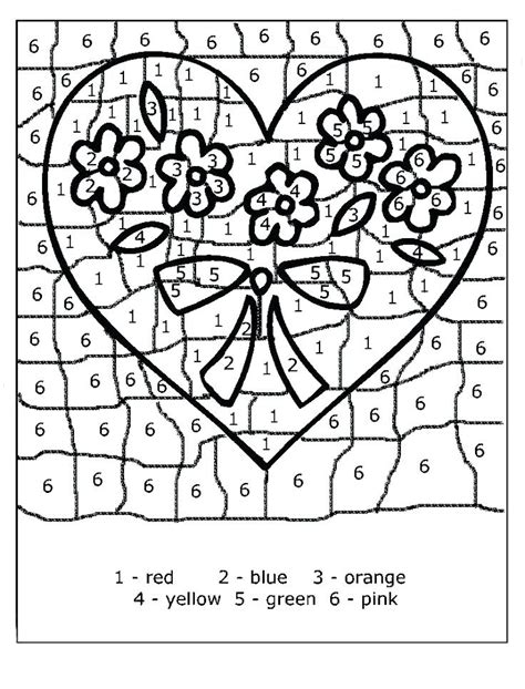 valentines color  number  coloring pages  kids