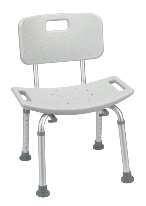 lightweight bath safety shower tub chair w back gray