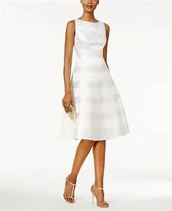 Papell Striped A Line Dress Dresses Women