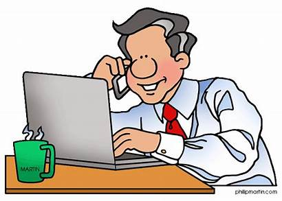 Clipart Office Father Working Clip Dad Cliparts
