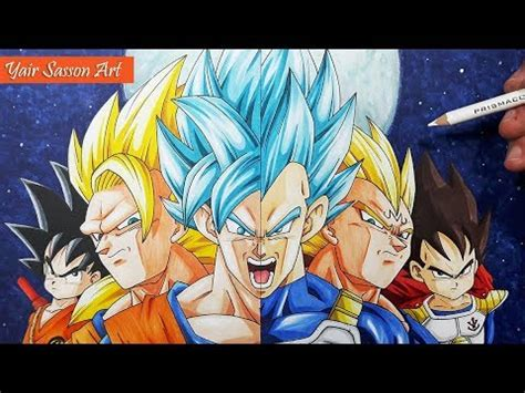 drawing  evolution  goku  vegeta youtube