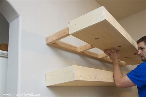 how to make a wall shelf how to build simple floating shelves for any room in