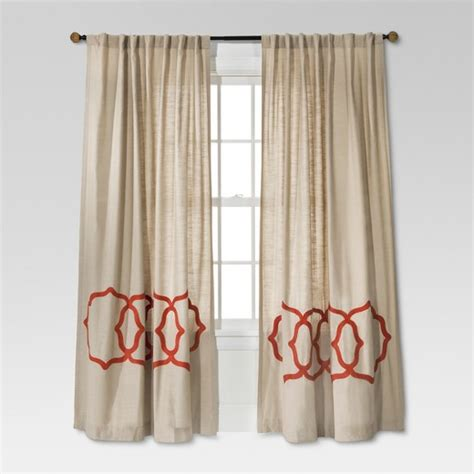 Target Drapery Panels by Fretwork Border Curtain Panel Threshold Target