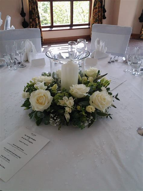 Wedding Reception Table Decoration Made Using Fresh