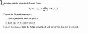 Folgenglieder Berechnen : folge folgen konvergenz konvergenzbeweise x1 1 x n 1 x n x n 2 mathelounge ~ Themetempest.com Abrechnung