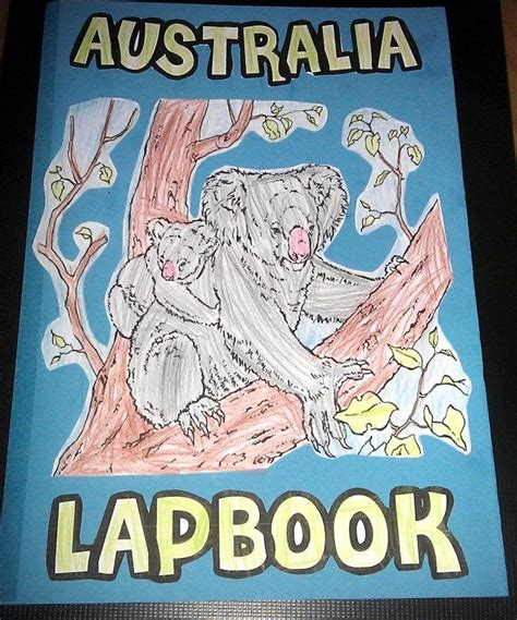 australia lapbook geography homeschool and lessons