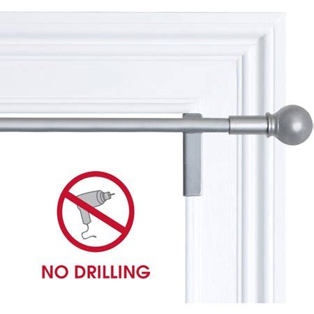 no drill curtain rod brackets smart rods twist and shout no drill adjustable window
