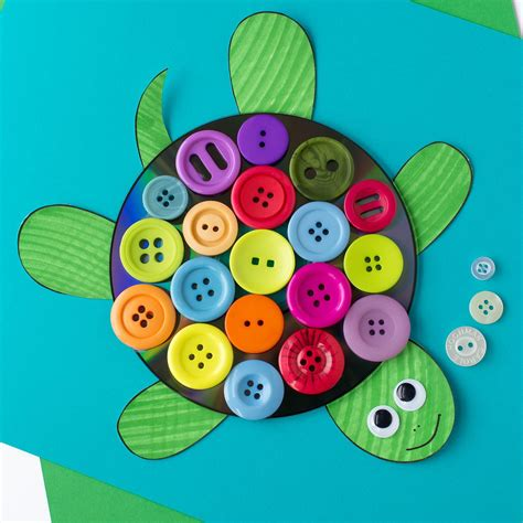 cupcake liner turtle craft 615 | Button and CD Turtle Craft for Kids 10