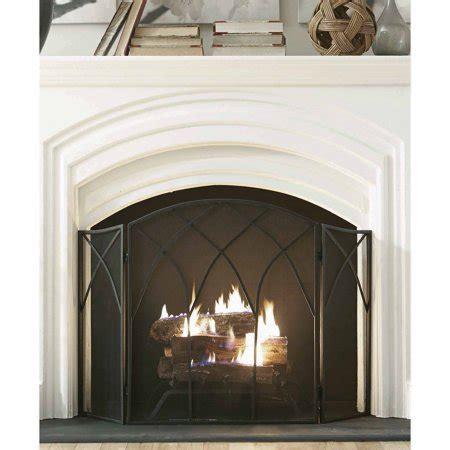 walmart fireplace screen pleasant hearth fireplace screen black walmart
