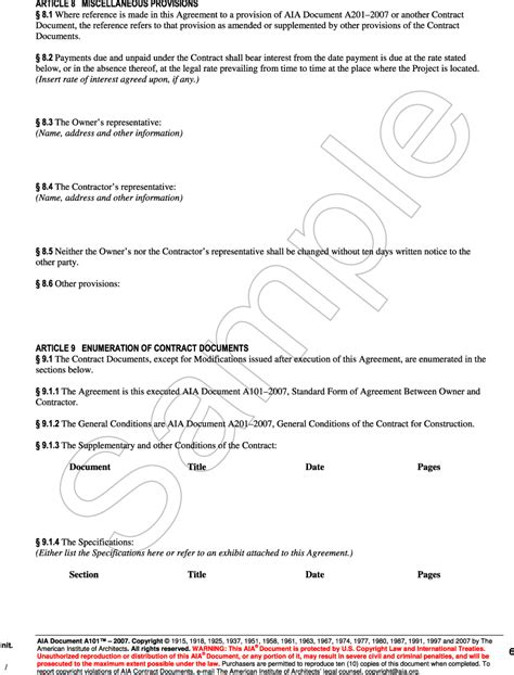 standard form of agreement between owner and contractor appendix g aia document a101 2007 standard form of