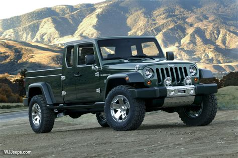 jeep wrangler pickup concept jeep grand cherokee wk jeep gladiator concept