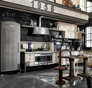 astuces pour amenager une cuisine vintage travauxcom With kitchen colors with white cabinets with penny board logo sticker