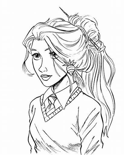 Luna Potter Lovegood Coloring Harry Pages Hipster
